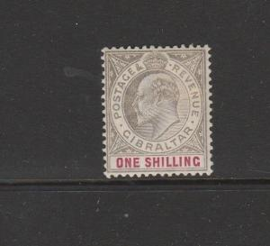 Gibraltar 1903 Crown CA 1/- Fresh MM SG 51