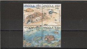 Angola  Scott#  882  MNH Block of 4  (1993 Turtles)