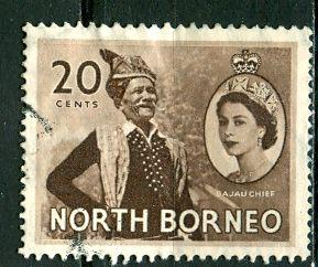 North Borneo 1954: Sc. # 269; O/Used Single Stamp