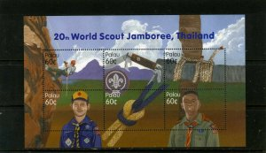 PALAU 2003 Sc#708 BOY SCOUTS SHEET OF 6 STAMPS MNH