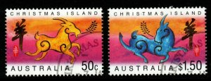 CHRISTMAS ISLAND SG523/4 2003 CHINESE NEW YEAR FINE USED