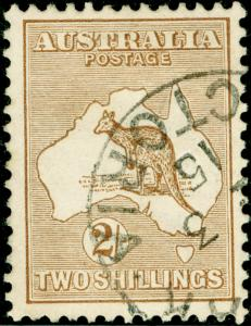 AUSTRALIA SG29, 2s brown, VERY FINE USED. CDS. Cat £120.