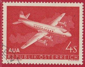 Austria - 1958 - Scott #632 - used - Airplane Austrian Airlines