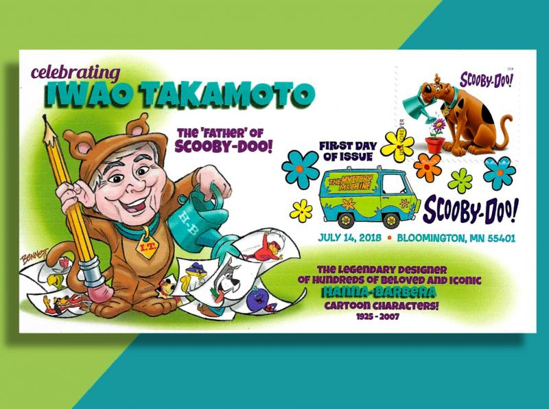 Scooby-Doo's Creator Iwao Takamoto Dons Dog Suit for New FDC w/ DCP by Bennett!