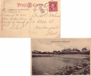 United States Massachusetts Clifton 1916 4b-bar  1888-1949  PPC (Houses & Sho...