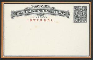 NYASALAND 1d Internal postcard, unused.....................................50225
