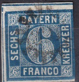 Bavaria #11 F-VF Used CV $12.00 (Z6819)