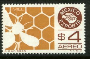 MEXICO Exporta C495 $4P Honey. Unwmk Fosfo Paper 4 MINT, NH. VF.