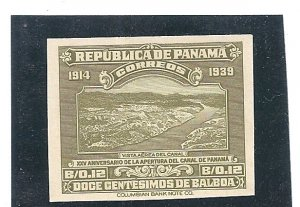Panama Scott # 327 IMPERF Proof Scarce  VF MNH Opening of Panama Canal 25th Ann.
