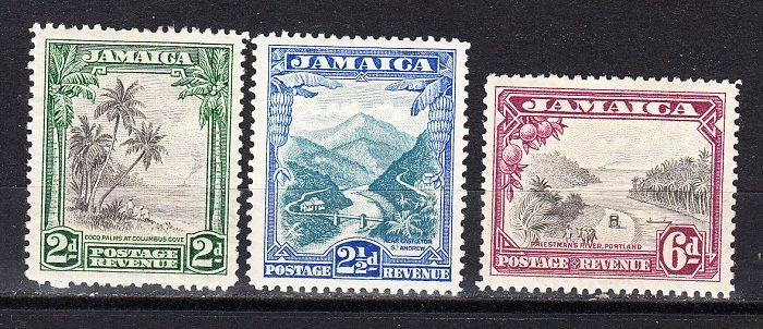 Jamaica Scott 106-108 Mint hinged (Catalog Value $64.00)