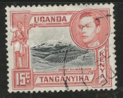 Kenya Uganda and Tanganyika KUT Scott 72b Used perf 13x13