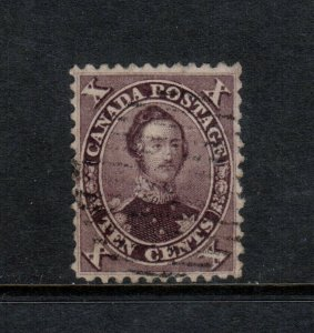 Canada #17e Very fine Used Small Hard To See Tear **With Certificate**
