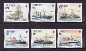 Jersey-Sc#1442-7-unused NH set-Mail Ships-2010-