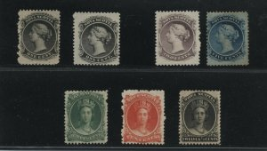 Nova Scotia Mint 1860-63 Q. Victoria #8, 8a, 9, 10, 11, 12, 13 (see description)