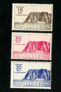 Norway Stamps # B1-3 VF OG LH Scott Value $127.00