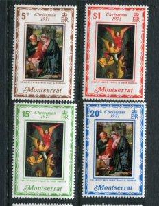 Montserrat MNH 264-7 Christmas 1971