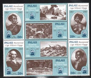 Palau # 33-40 ~  Cpllt Set, Block of 8 ~ Mint, HMR