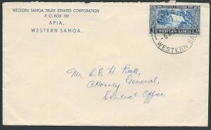 SAMOA 1959 local 3d rate commercial cover - Apia cds.......................46992