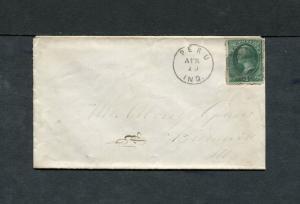 Postal History - Peru IN 1875 Black Cork Killer 3cBN Cancel Cover B0501