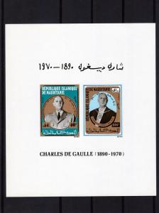 Mauritania 1980 Charles de Gaulle s/s Imperforated mnh.vf