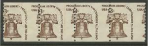 #1618 LINE PAIR NH PERF SHIFT ERROR 13¢ LIBERTY BELL BL5522