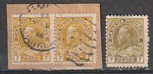 #113 Canada Used Admirals Used  single & pair varities