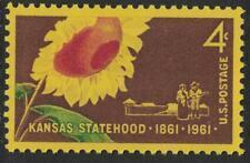 SCOTT # 1183 KANSAS STATEHOOD ISSUE SINGLE POST OFFICE FRESH GEM
