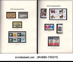 USA UNITED STATES - 1961-1970 COMMEMORATIVE STAMPS ON PAGES IN A BOOKLET