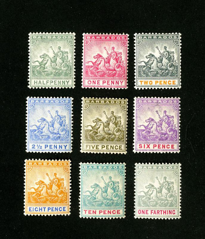 Barbados Stamps # 70-83 VF OG LH Set of 14 Scott Value $83.00