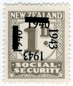 (I.B) New Zealand Revenue : Social Security 1d (1943)