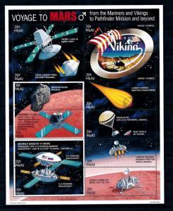 [56475] Palau 1996 Voyage to Mars Space travel Weltraum MNH Sheet