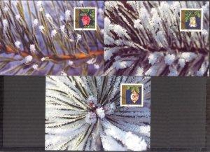 Liechtenstein 1997 Christmas 3 Maxi Cards FDC