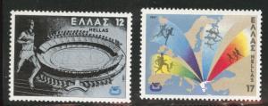 GREECE Scott 1388-89  MNH** 1981 set