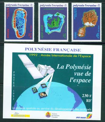 FRENCH POLYNESIAN  Scott 587-90 MNH* Satelite Images