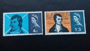 Great Britain 1966 Robert Burns, Scottish Poet Mint