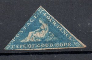 Cape of Good Hope 4d blue Triangle fine used WS19009