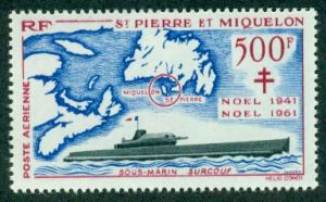 St. Pierre & Miquelon #C25  Mint  VF VLH  Scott $130.00  ...