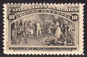 1893 U.S Columbian Exposition 10¢ issue MNH Sc# 237 CV $250.00