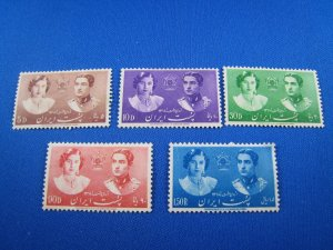 IRAN  1939  -  SCOTT # 871-875  -  MH        (Hi12)