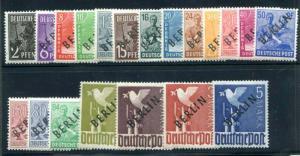 Germany- Berlin 9N1-9N20 MNH overprints