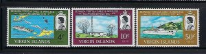 BRITISH VIRGIN IS. SCOTT #183-185  1967 TELEPHONE LING  - MINT NEVER  HINGED