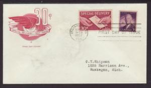 US E21 Special Delivery Letter House of Farnam Typed FDC