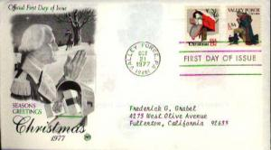 United States, First Day Cover, Christmas