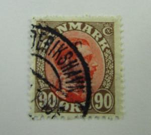c1920 Denmark SC #127 KING CHRISTIAN X   Used stamp