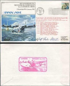 FF37b 1st Round the World Flight by Commercial Airline Signed Capt. Stewart (A)