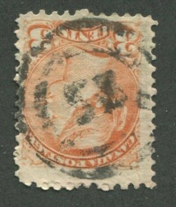 CANADA #37 USED SMALL QUEEN 2-RING NUMERAL CANCEL 53