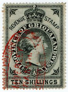 (I.B) Griqualand West Revenue : Duty Stamp 10/-
