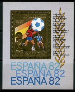 1982 Chad 898/B88 gold 1982 FIFA World Cup in Spain 14,00 €