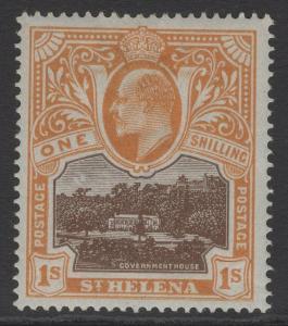 ST.HELENA SG59 1903 1/= BROWN & BROWN-ORANGE MTD MINT