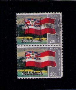 Cook Islands Sc 735 Used Pair F-VF